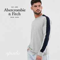 Abercrombie & Fitch(アバクロ) Tシャツ・カットソー SALE【A&F】長袖 サイドロゴ トップス グレー / 送料無料