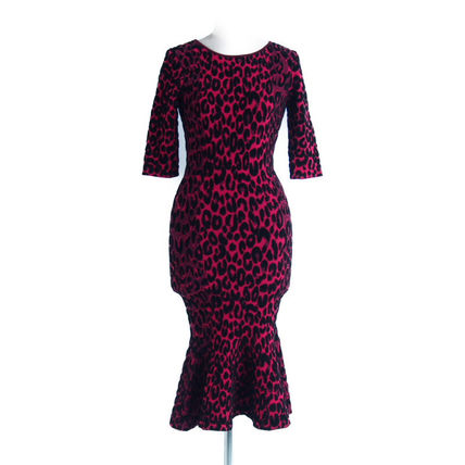 Milly ワンピース 2018A/W Milly::Textured Leopard Mermaid Dress:P[RESALE]