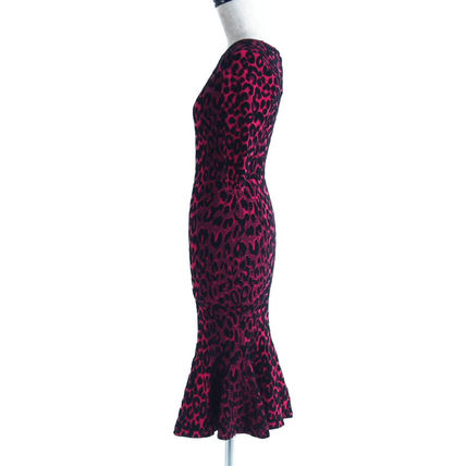 Milly ワンピース 2018A/W Milly::Textured Leopard Mermaid Dress:P[RESALE](2)