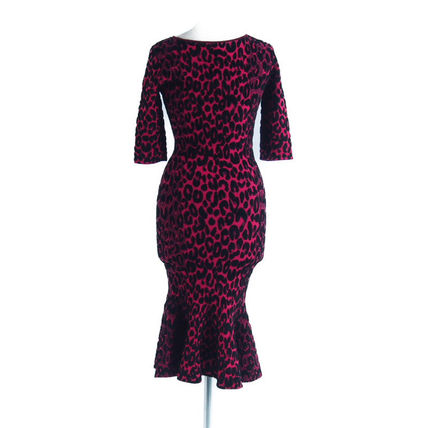 Milly ワンピース 2018A/W Milly::Textured Leopard Mermaid Dress:P[RESALE](3)