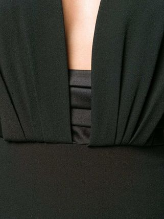 Saint Laurent ワンピース WSL1531 OPEN-BACK CREPE DRESS WITH SATIN BAND(4)