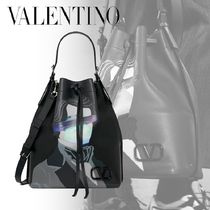 "VALENTINO×UNDERCOVER*バケットバッグ ""V FACE UFO"" ロゴ 2WAY"