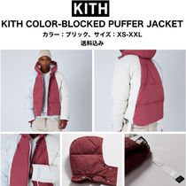 KITH COLOR-BLOCKED PUFFER JACKET カラー:ブリック XS-XXL