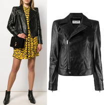 WSL1549 CALF LEATHER MOTORCYCLE JACKET