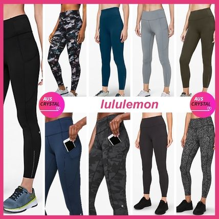 lululemon★Fast And Free 7/8 Tight II NULUX 25★ドット&ロゴ