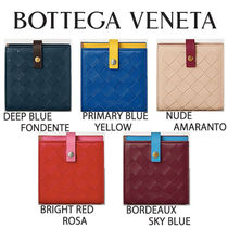 BOTTEGA VENETA MINI FRENCH WALLET IN NAPPA AND CALFSKIN