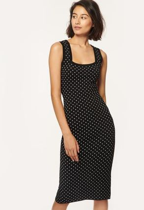 Milly ワンピース 安心国内発送 ワンピース♪ MICRO DOT FITTED DRESS