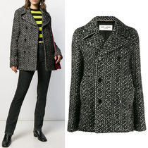 WSL1560 KNITTED PEA COAT