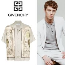 【GIVENCHY】 シルク サンプリント ハワイアンシャツ