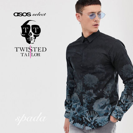 SALE【Twisted Tailor】フェード フローラルシャツ / 送料無料