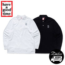 have a good time Logo L/S Polo Shirts MU1129 追跡付