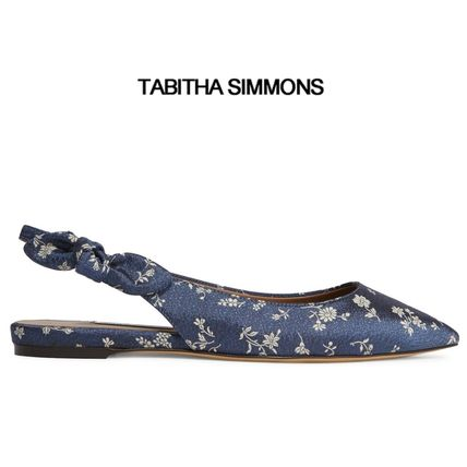 ∞∞ TABITHA SIMMONS ∞∞ Rise bow-embellished フラット☆