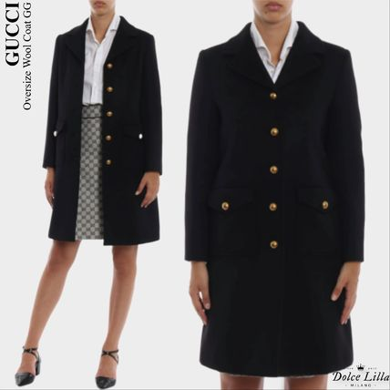GUCCI   Oversize Wool Coat GG