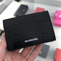 BALENCIAGA Ville Mini Wallet Crocodile Effect 558208