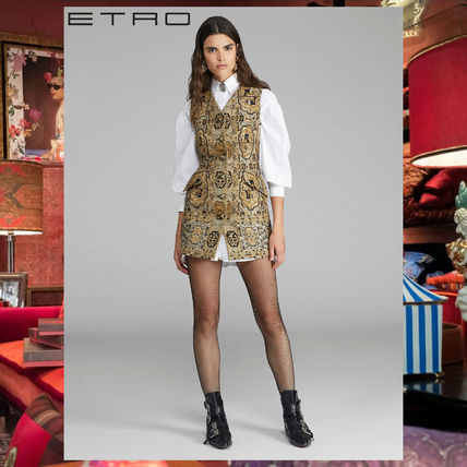 ETRO ワンピース ETRO エトロ Embroidered jacquard mini dress ワンピース