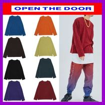 [OPEN THE DOOR] regular-fit simple knit(全8色)-UNISEX/追跡付