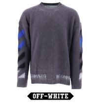 Off-White Wool and mohair sweater with logo ロゴ有 セーター