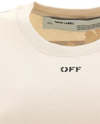 Off-White Tシャツ・カットソー Off-White Cotton t-shirt with logo print ロゴ かわいい★花(5)