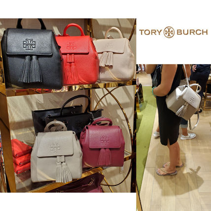 TORY BURCH タッセル付き バックパック THEA MINI BACKPACK