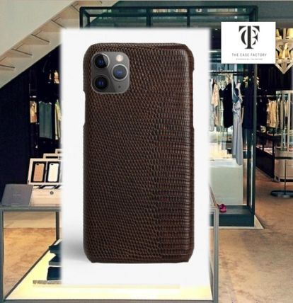 THE CASE FACTORY スマホケース・テックアクセサリー THE CASE FACTORY★IPHONE 11 PRO LIZARD BROWN