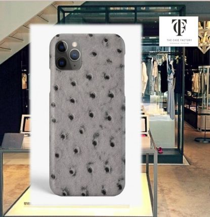 THE CASE FACTORY スマホケース・テックアクセサリー THE CASE FACTORY★IPHONE 11 PRO OSTRICH GREY