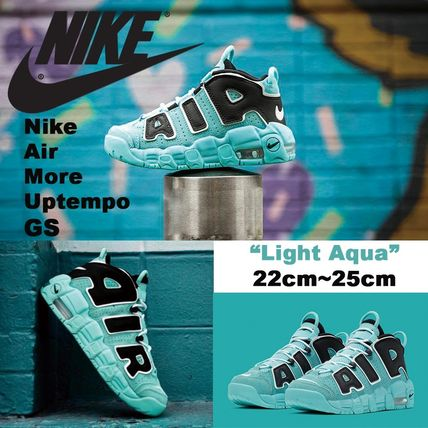 "レディース Nike Air More Uptempo GS ""Light Aqua"" モアテン"