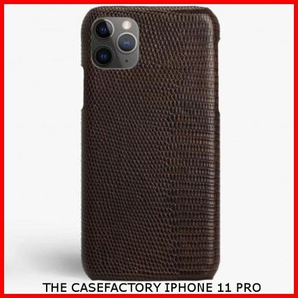 THE CASE FACTORY スマホケース・テックアクセサリー 関税送料込☆THE CASEFACTORY☆IPHONE 11 PRO LIZARD BROWN