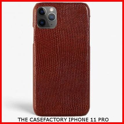 THE CASE FACTORY スマホケース・テックアクセサリー 関税送料込☆THE CASEFACTORY☆IPHONE 11 PRO LIZARD GRANATA