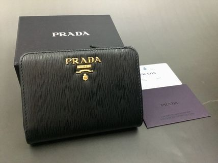 ★PRADA★【1ML018】VITELLO MOVE 二つ折り財布★NERO★