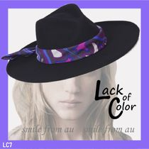 ★AU発★Lack of Color★Melodic Fedora - black ウール ハット