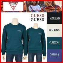 ★【GUESS】★GUESS SIMPLE LOGO NEON 刺繍 SWARTSHIRTS★4色★