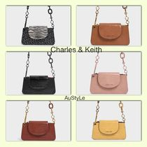 ■Charles&Keith■RING HANDLE MINI FRONT FLAP WALLET■6色