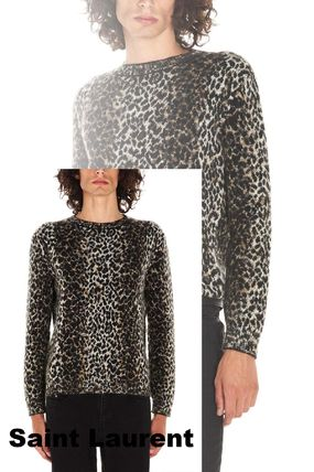 【Saint Laurent】Animalier sweater