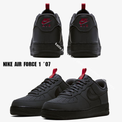 NIKE★AIR FORCE 1 '07★ANTHRACITE/BLACK/UNIVERSITY RED
