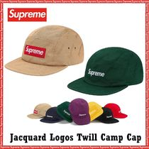 Supreme Jacquard Logos Twill Camp Cap AW 19 FW 19 WEEK 4