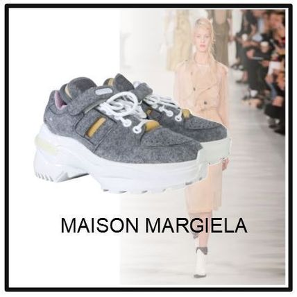 【MAISON MARGIELA】OVERSIZE LEATHER AND NYLON SNEAKER