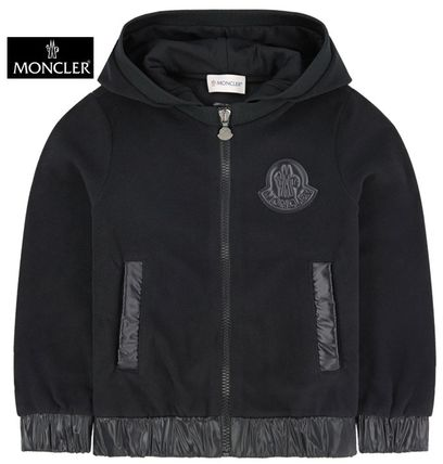 19/20AW大人OK【MONCLER】ロゴワッペン付ベロアパーカー☆14A