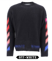 Off-White Wool and mohair sweater with logo ウール ロゴ