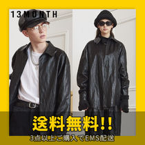 ★13MONTH★ LEATHER LONG SLEEVE SHIRT