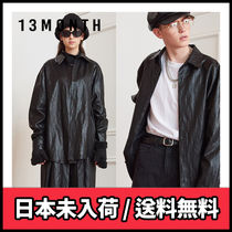 【13MONTH】LEATHER LONG SLEEVE SHIRT