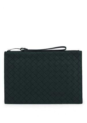 【関税負担】 BOTTEGA VENETA MEDIUM POUCH IN MAXI INTRECCIO
