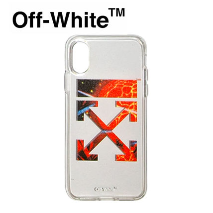 Off-White スマホケース・テックアクセサリー 【Off-White】☆新作☆ HANDS AND PLANET IPHONE X COVER