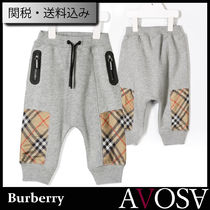 Burberry children jersey joggers Vintage check パンツ Baby
