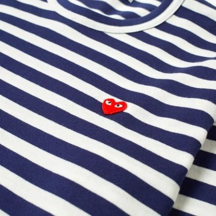 COMME des GARCONS Tシャツ・カットソー 19AW新作 コムデギャルソン PLAY ハート ボーダー ロングTシャツ(4)