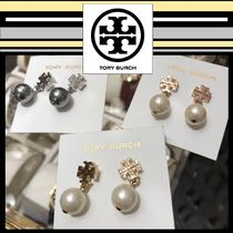 Tory Burch☆LOGO PEARL DROP EARRING ピアス☆送料・関税込み