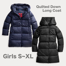 GIRLS 7-16 Quilted Down Long Coat