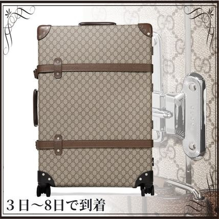 GUCCI スーツケース 関税込◆+ Globe-Trotter large leather-trimmed printed