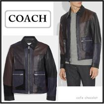 【COACH】Pieced Leather Jacket レジャージャケット 残りわずか