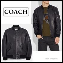 【COACH】Leather Ma-1 Jacket  レザージャケット