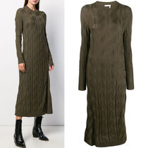 C488 WOOL SILK CABLE KNIT DRESS